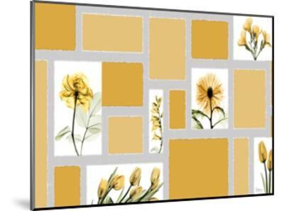Mondrian Flowers-Albert Koetsier-Mounted Art Print