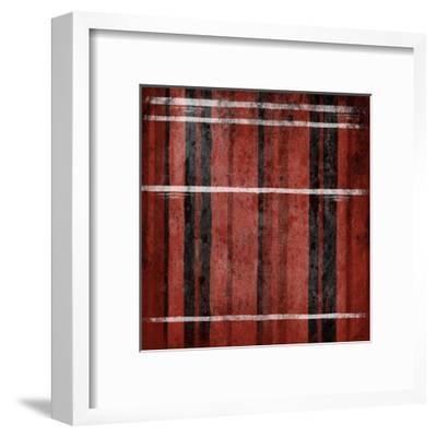 Red Stripes-Jace Grey-Framed Art Print