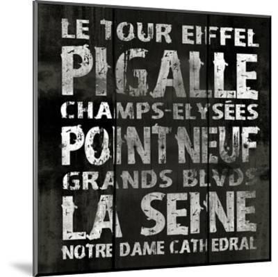Paris 2-Jace Grey-Mounted Art Print