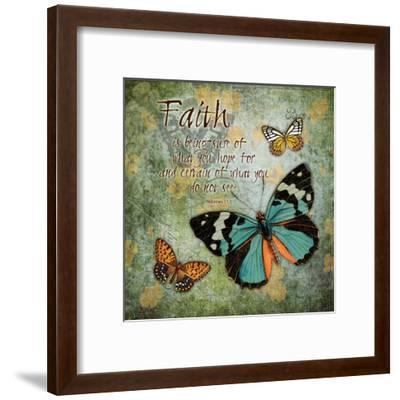 Butterfly Faith-Carole Stevens-Framed Art Print