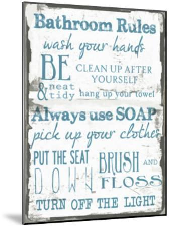 Bathroom Rules White-Taylor Greene-Mounted Art Print