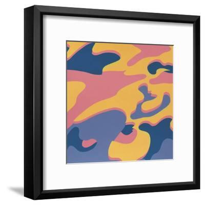 Camouflage, 1987 (Pink, Purple, Orange)-Andy Warhol-Framed Art Print