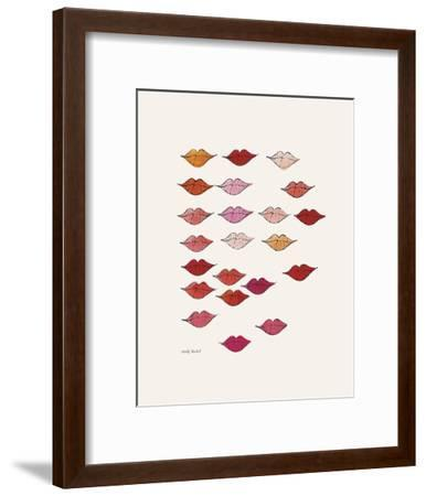 Stamped Lips, c. 1959-Andy Warhol-Framed Art Print