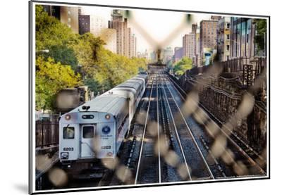 Metro North Train Through Fence--Mounted Poster