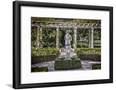 Statue at The Breakers in Newport Rhode Island--Framed Poster