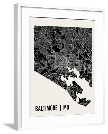 Baltimore-Mr City Printing-Framed Art Print