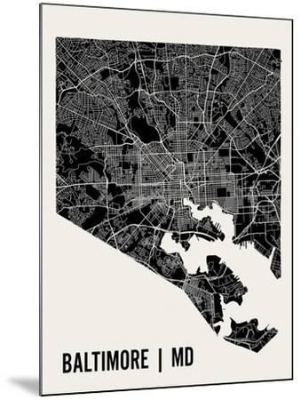 Baltimore-Mr City Printing-Mounted Art Print