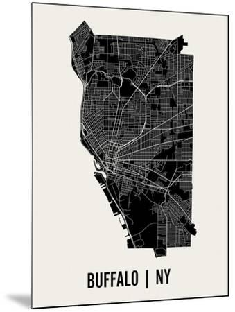 Buffalo-Mr City Printing-Mounted Art Print