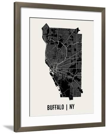 Buffalo-Mr City Printing-Framed Art Print
