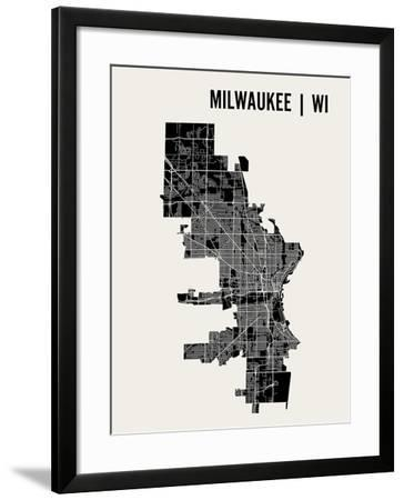 Milwaukee-Mr City Printing-Framed Art Print