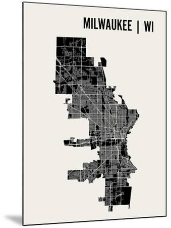 Milwaukee-Mr City Printing-Mounted Art Print