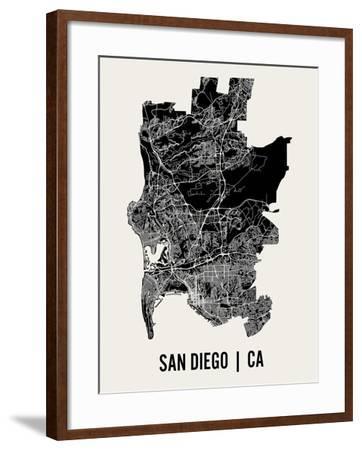 San Diego-Mr City Printing-Framed Art Print