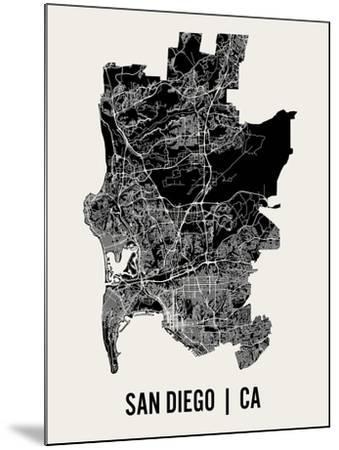 San Diego-Mr City Printing-Mounted Art Print