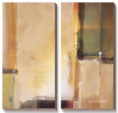 Calm Waters II-Noah Li-Leger-Framed Canvas Art Set
