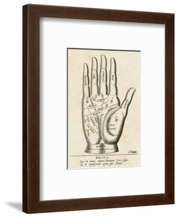 Palmistry: Palm Diagram--Framed Giclee Print