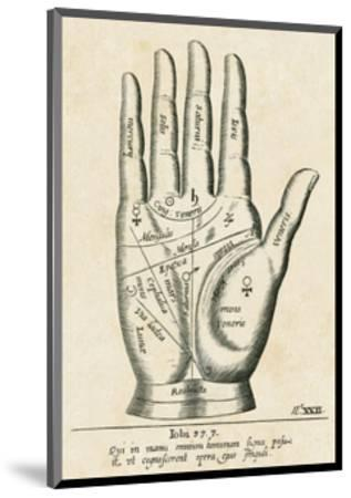 Palmistry: Palm Diagram--Mounted Giclee Print