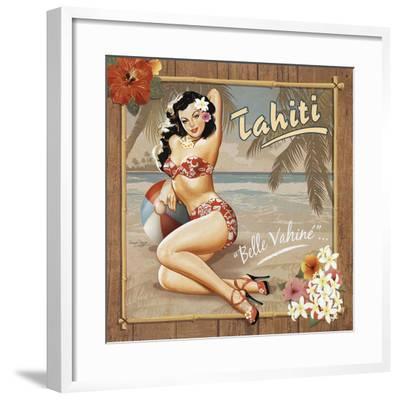 Tahiti-Bruno Pozzo-Framed Art Print