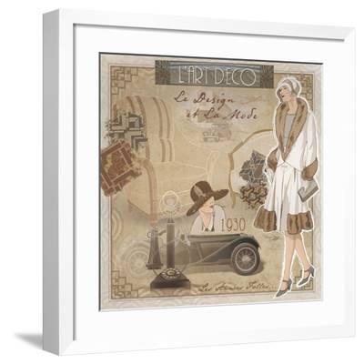 Mode Art Déco-Bruno Pozzo-Framed Art Print