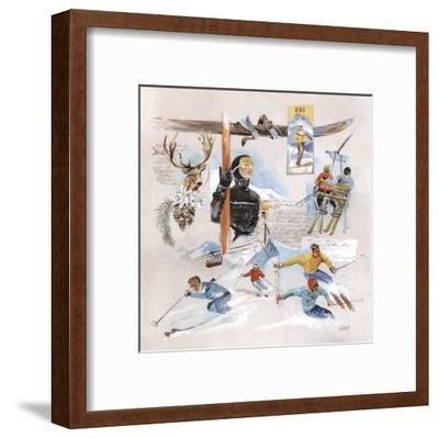 Télésiège-Lizie-Framed Art Print