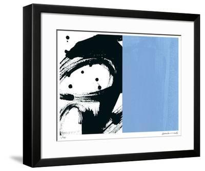 Zen Blue-Maria Lobo-Framed Giclee Print