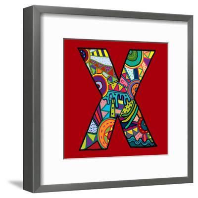 Letter X-Emi Takahashi-Framed Art Print
