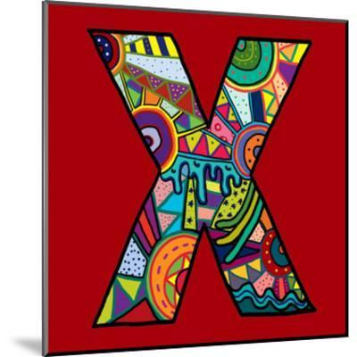 Letter X-Emi Takahashi-Mounted Art Print