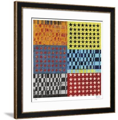 Stars and Stripes-Mj Lew-Framed Giclee Print