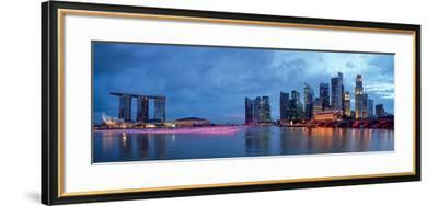 Panorama of Singapore Skyline and River--Framed Art Print