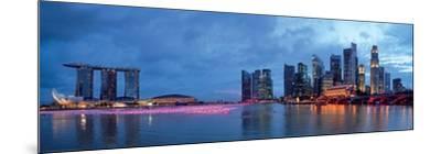 Panorama of Singapore Skyline and River--Mounted Art Print
