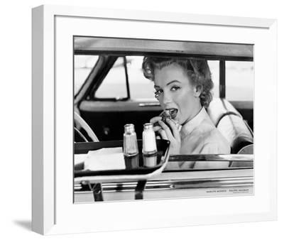 Marilyn Monroe at the Drive-In, 1952-Philippe Halsman-Framed Art Print