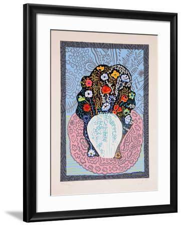 Flower Symphony - Blue-Maurice Litvak-Framed Limited Edition