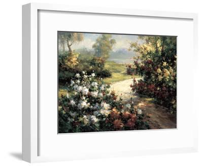 Pathway of Flowers-Leila-Framed Giclee Print