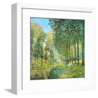 Le Repos au Bord du Ruisseau , 1872-Alfred Sisley-Framed Art Print