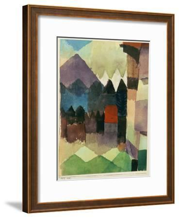 Fohn Wind in Marc's Garden-Paul Klee-Framed Giclee Print