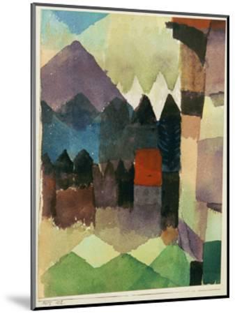 Fohn Wind in Marc's Garden-Paul Klee-Mounted Giclee Print