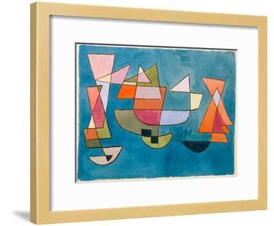 Sailing Boats-Paul Klee-Framed Giclee Print
