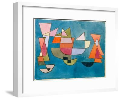 Sailing Boats-Paul Klee-Framed Giclee Print