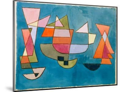 Sailing Boats-Paul Klee-Mounted Giclee Print