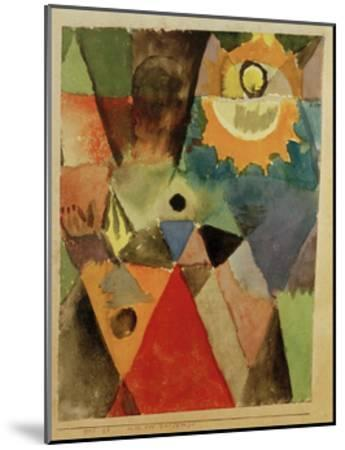 Still Life with Gas Lamp-Paul Klee-Mounted Giclee Print