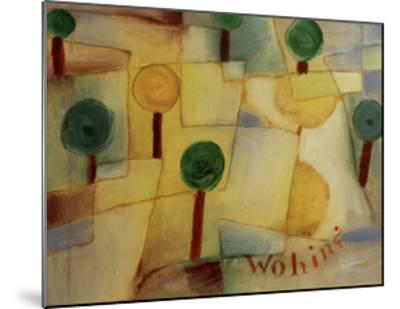 Where To?-Paul Klee-Mounted Giclee Print