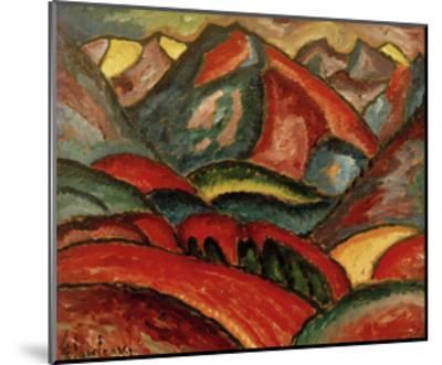 Oberstdorf, landscape-Alexej Von Jawlensky-Mounted Giclee Print