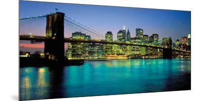 Brooklyn Bridge, New York-Peter Bennett-Mounted Art Print