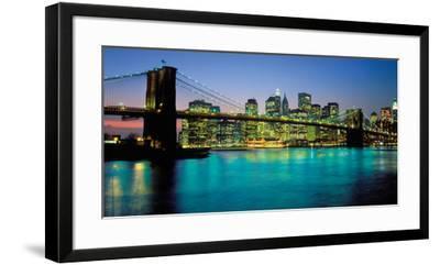 Brooklyn Bridge, New York-Peter Bennett-Framed Art Print