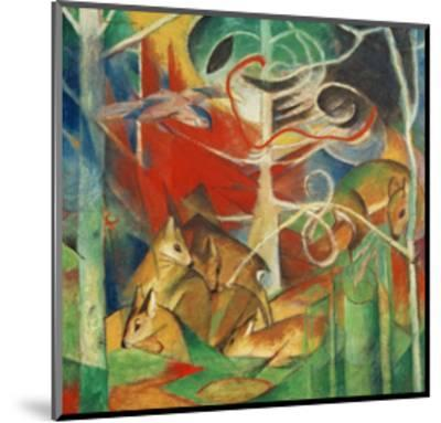 Deer in the Forest I-Franz Marc-Mounted Giclee Print
