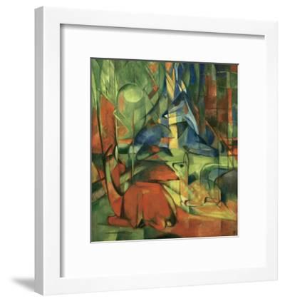 Deer in the forest II 1914-Franz Marc-Framed Giclee Print