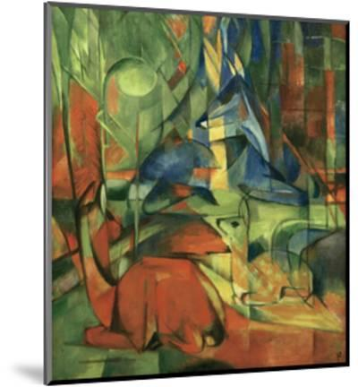 Deer in the forest II 1914-Franz Marc-Mounted Giclee Print