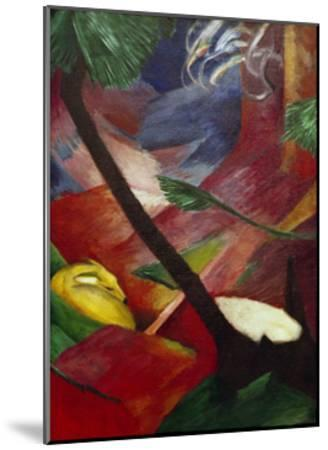Deer in the Forest II-Franz Marc-Mounted Giclee Print