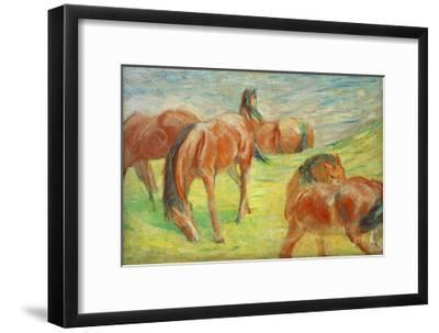 Grazing Horses I-Franz Marc-Framed Giclee Print