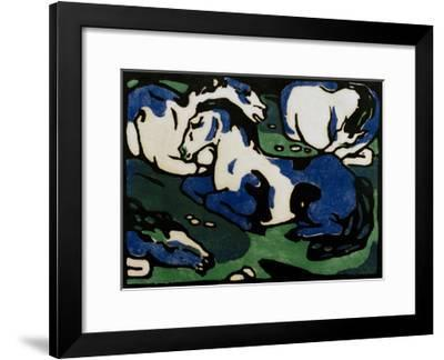 Horses Resting-Franz Marc-Framed Giclee Print