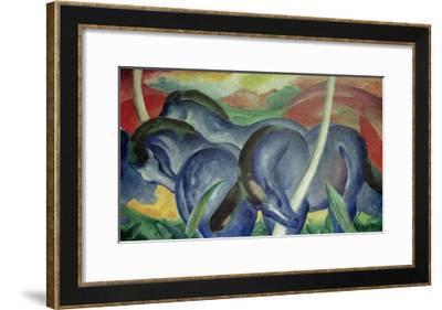 Large Blue Horses, 1911-Franz Marc-Framed Giclee Print